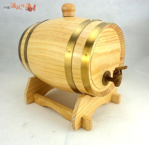 5l桔色橡木桶红酒桶存酒桶有内胆双口带盖