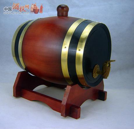 5l酒红色橡木桶红酒桶存酒桶有内胆双口带盖