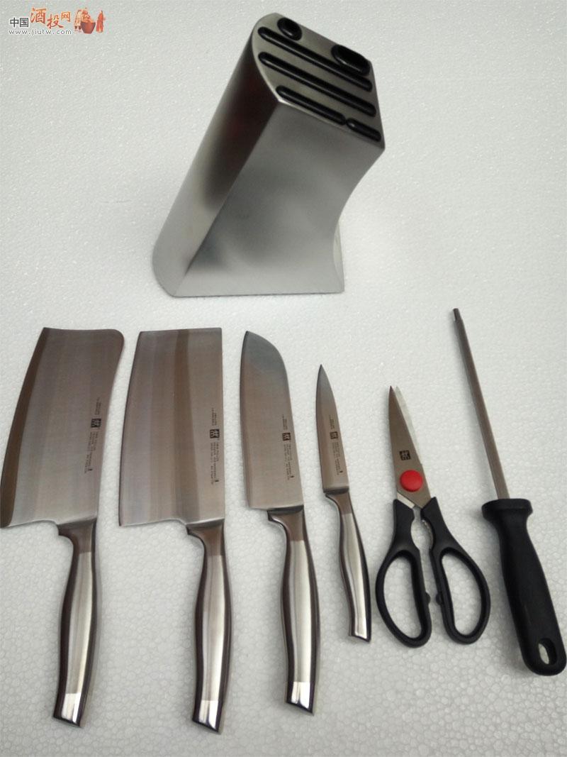 双立人不锈钢刀具7件套装